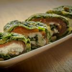 spinazie ei wrap gerookte zalm cottage cheese